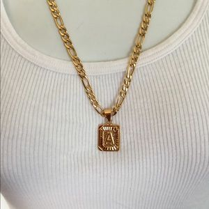 "Other - New 18k gold "" A "" necklace"